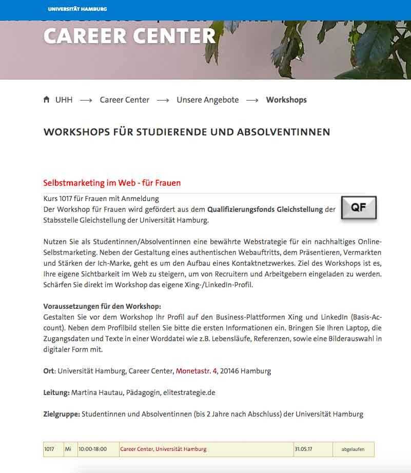 Career-Center-Hamburg Workshop